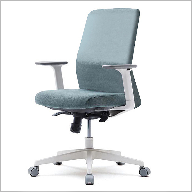 VT-SLDAU - Mid Full Fabric Cushion Back Chair
